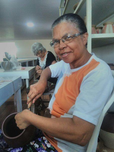 Dona Flora, presidente da Cooperativa